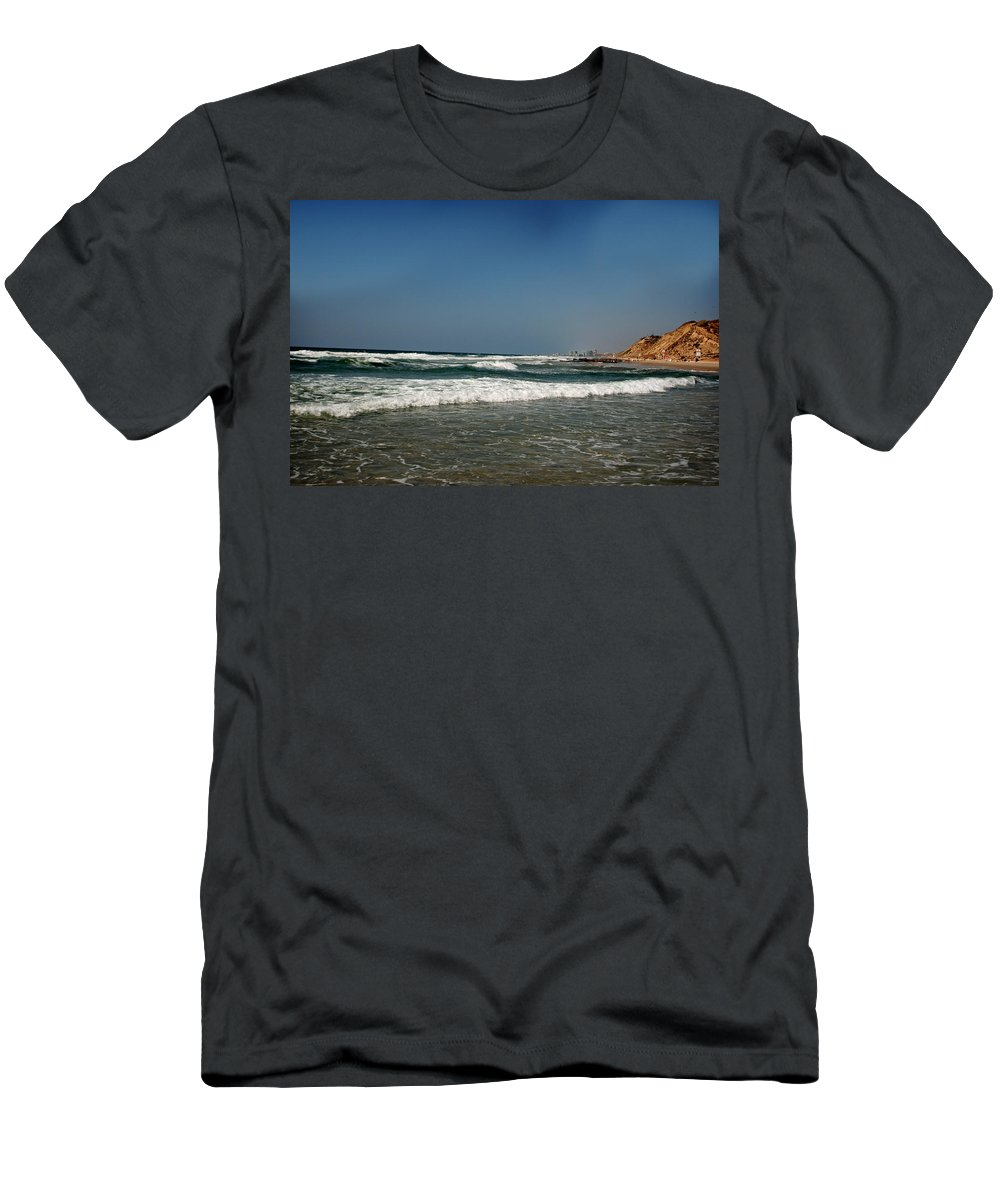 California Men's T-Shirt (Athletic Fit) featuring the photograph California Beach by Doc Braham
