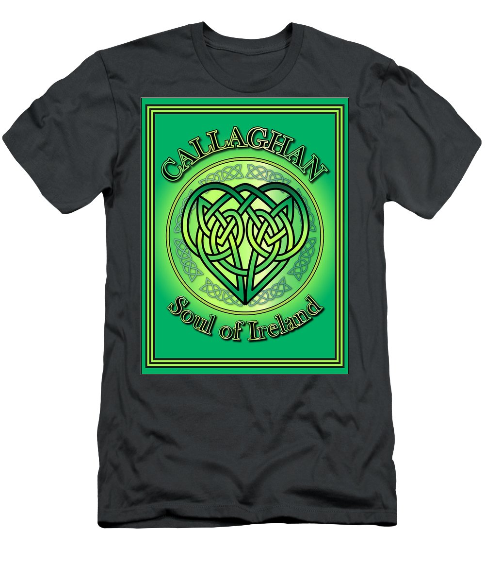 Callaghan Men's T-Shirt (Athletic Fit) featuring the digital art Callaghan Soul Of Ireland by Ireland Calling