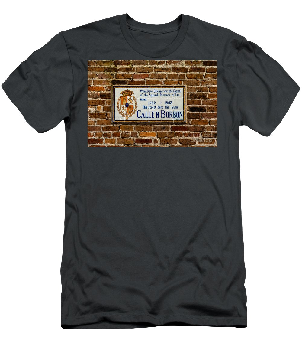 New Orleans Men's T-Shirt (Athletic Fit) featuring the photograph Calle Borbon by Susie Hoffpauir