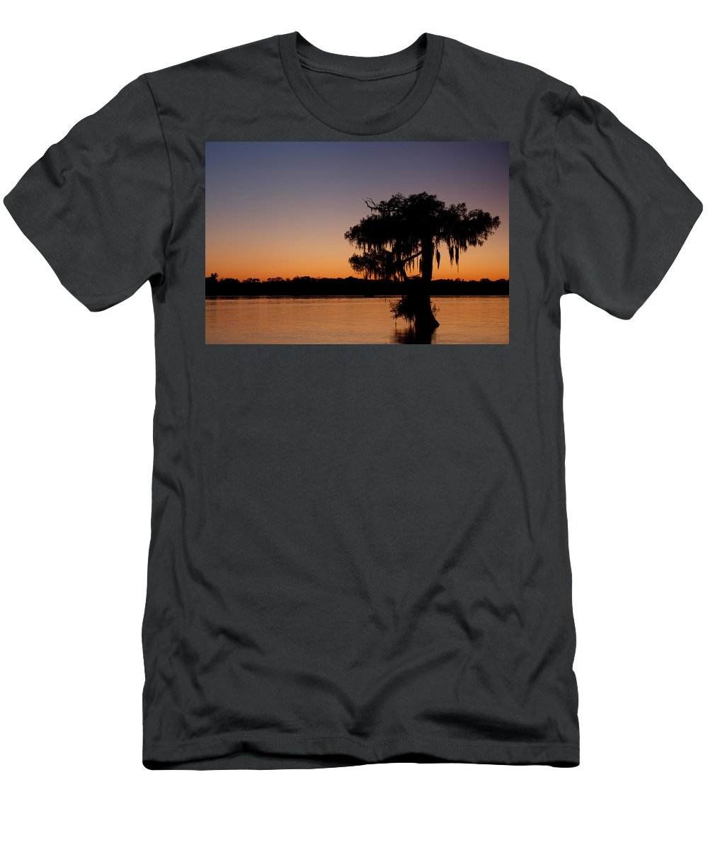 Louisiana Men's T-Shirt (Athletic Fit) featuring the photograph Calm Waters by Susie Hoffpauir