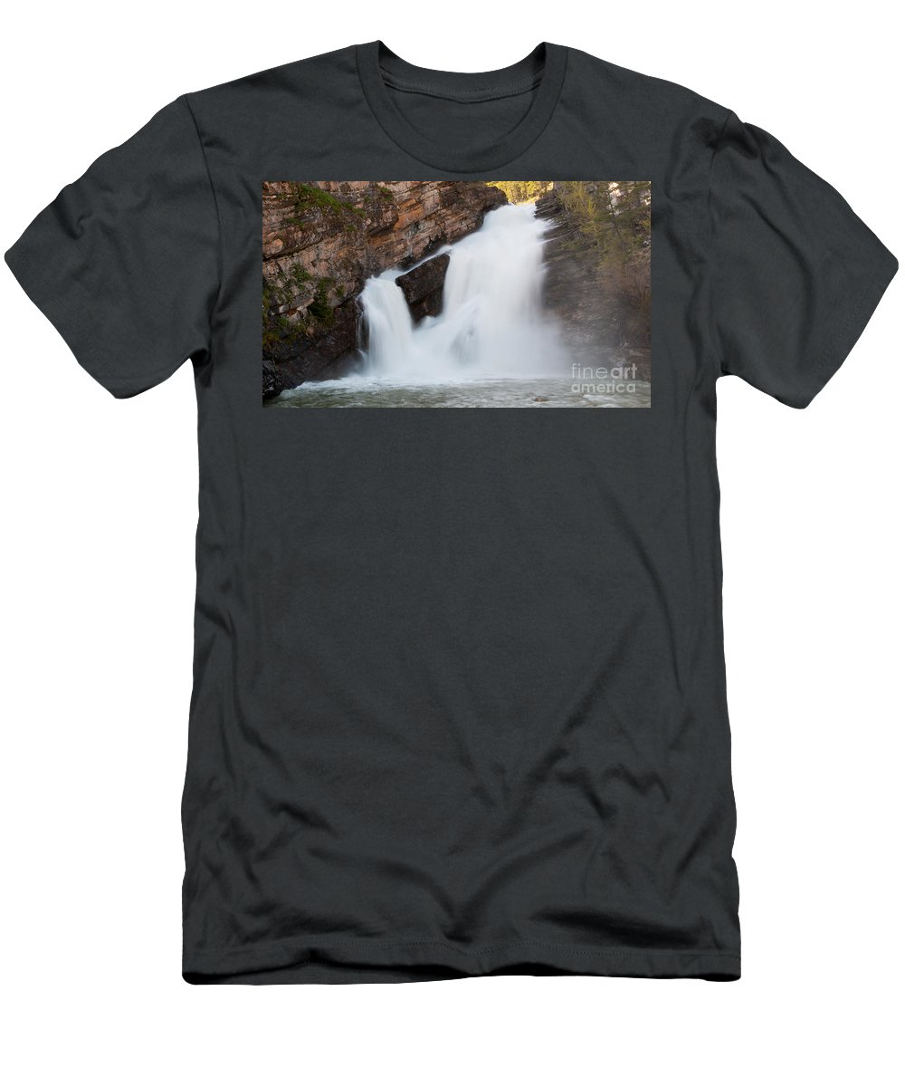 Waterfalls Men's T-Shirt (Athletic Fit) featuring the photograph Cameron Falls by Vivian Christopher
