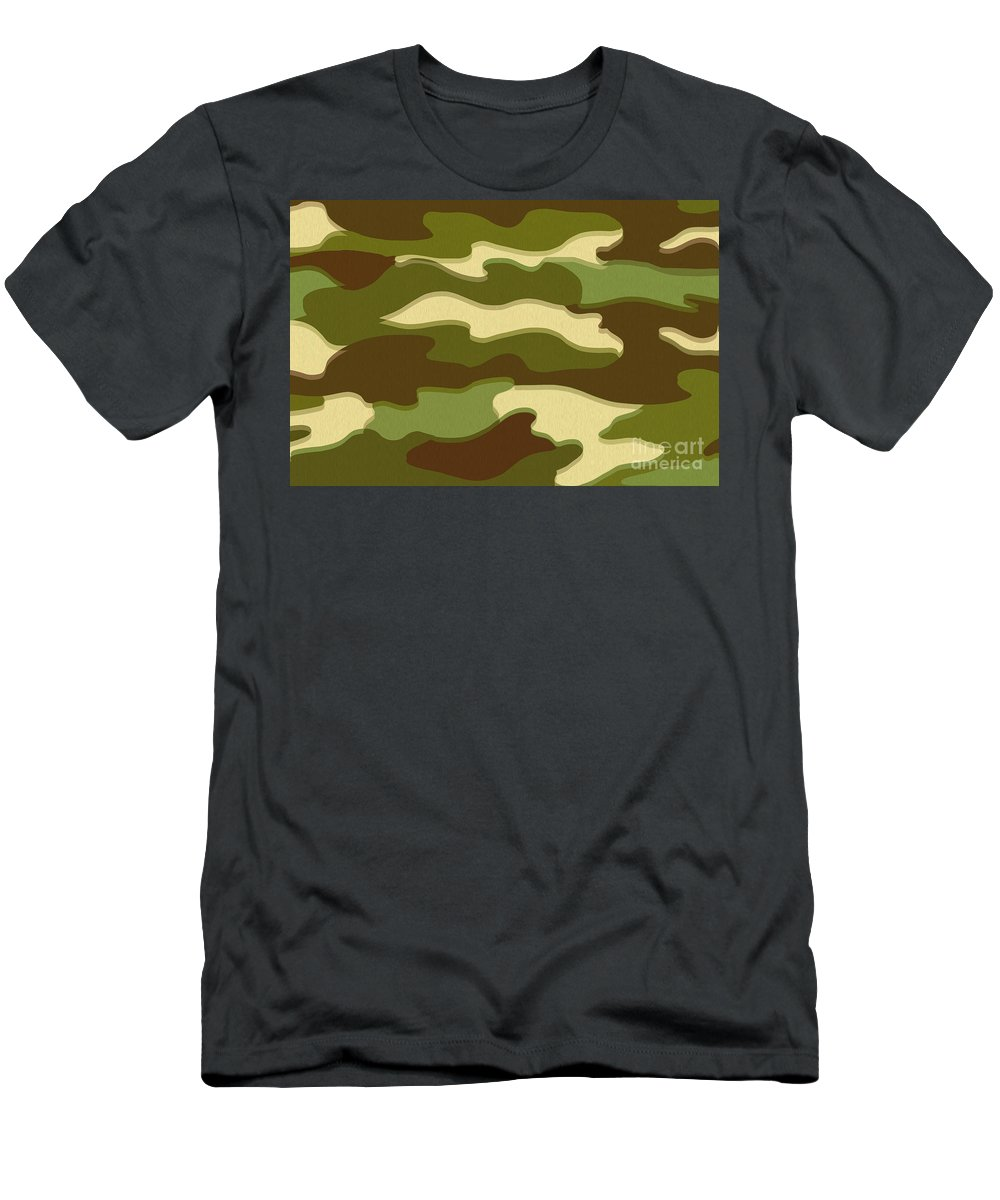 War Men's T-Shirt (Athletic Fit) featuring the digital art Camo by Bruce Stanfield