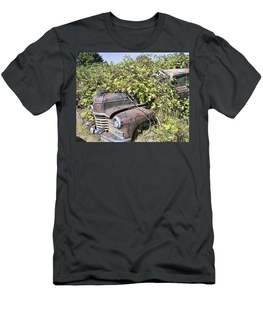 Men's T-Shirt (Athletic Fit) featuring the photograph Camouflaged Car by Cathy Anderson