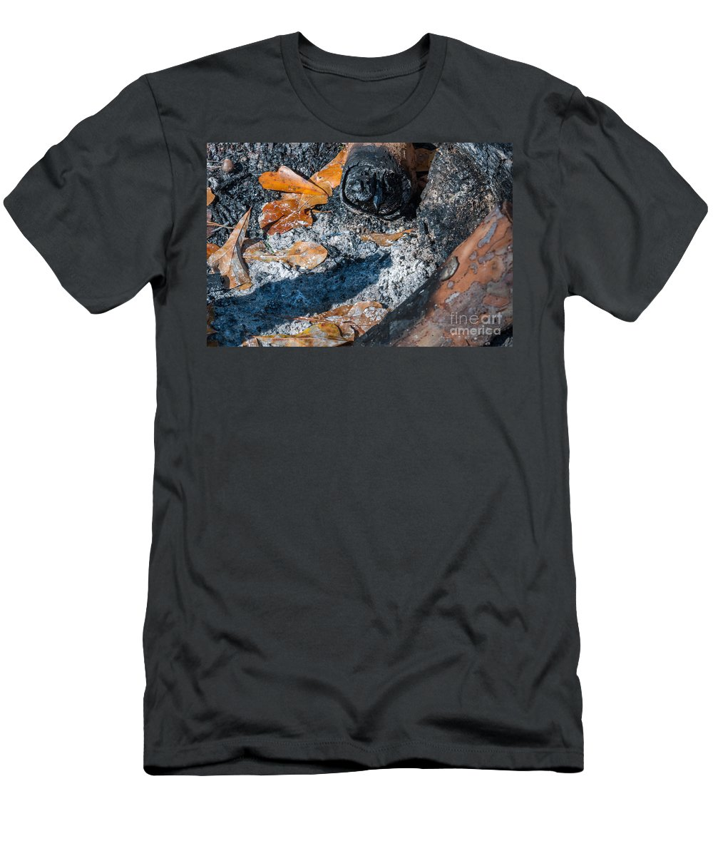 Camp Fire Men's T-Shirt (Athletic Fit) featuring the photograph Camp Fire by Dale Powell