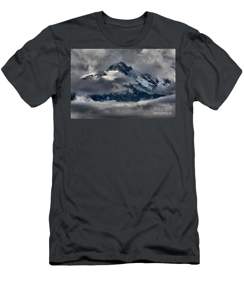 Tantalus Men's T-Shirt (Athletic Fit) featuring the photograph Canadian Coastal Mountain Peaks by Adam Jewell