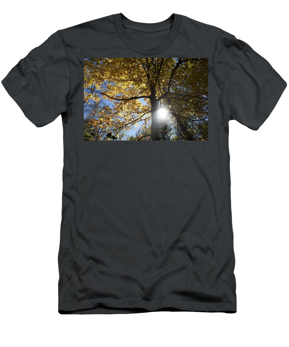 Canadian Men's T-Shirt (Athletic Fit) featuring the digital art Canadian Maple by Naomi McQuade