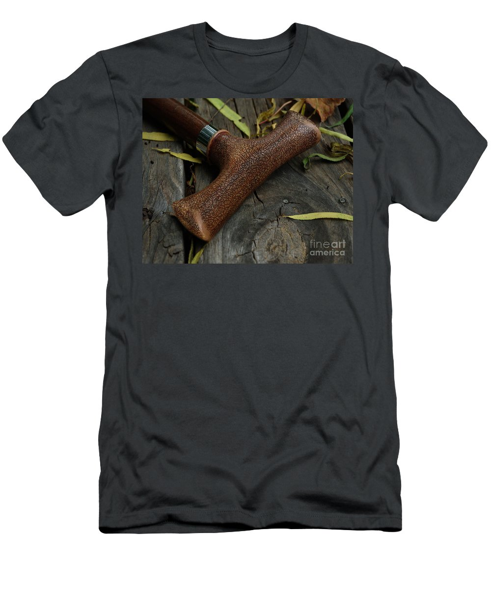 Cane Men's T-Shirt (Athletic Fit) featuring the photograph Cane And I by Peter Piatt
