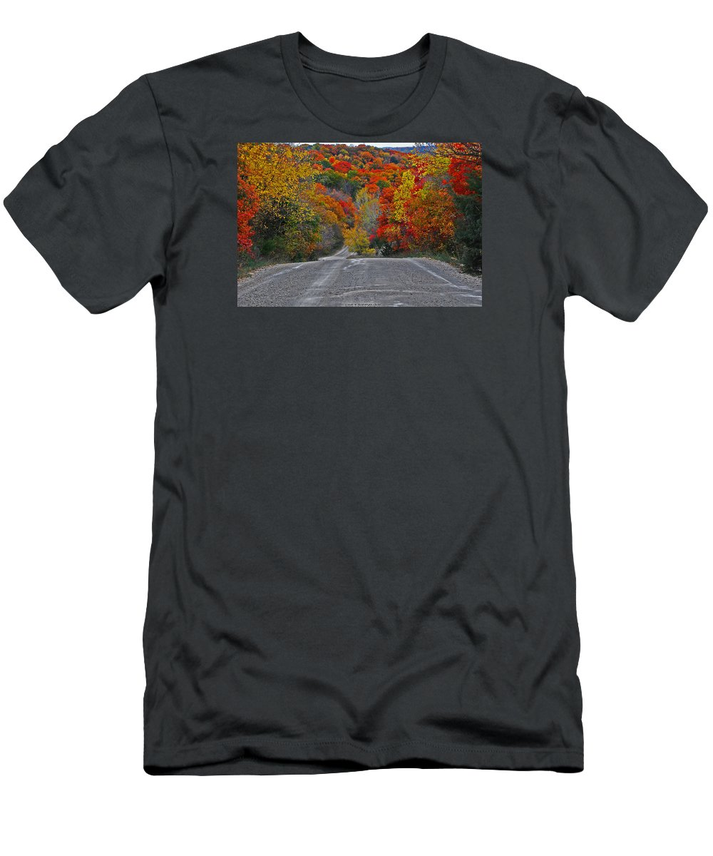 Fall Colors Men's T-Shirt (Athletic Fit) featuring the photograph Canyon Hill by Audie T Photography