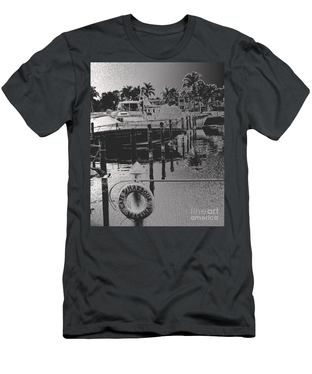 Cape Harbor Marina Men's T-Shirt (Athletic Fit) featuring the photograph Cape Harbor Marina by Christine Dekkers