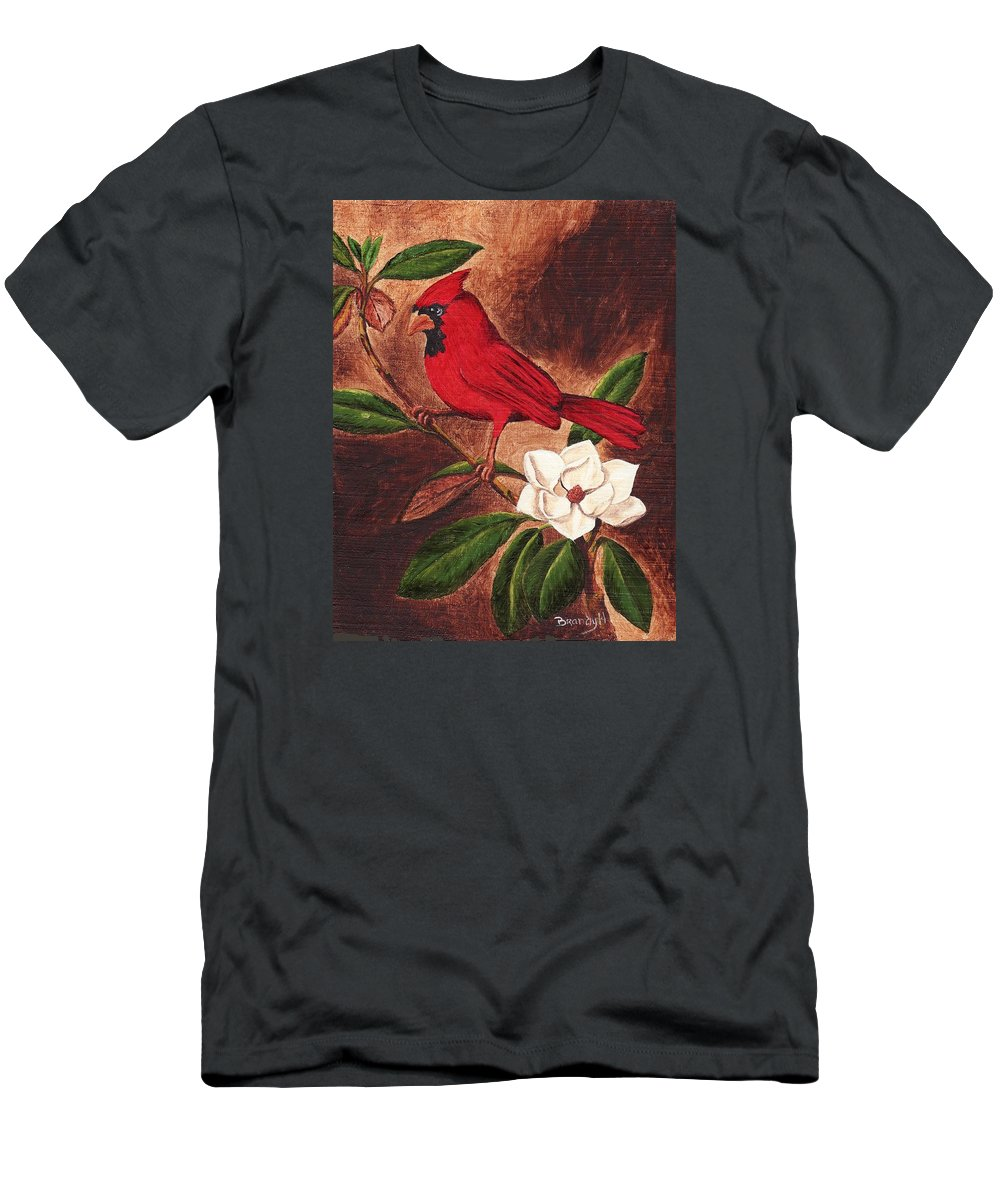 Birds T-Shirt featuring the painting Cardinal II by Brandy House