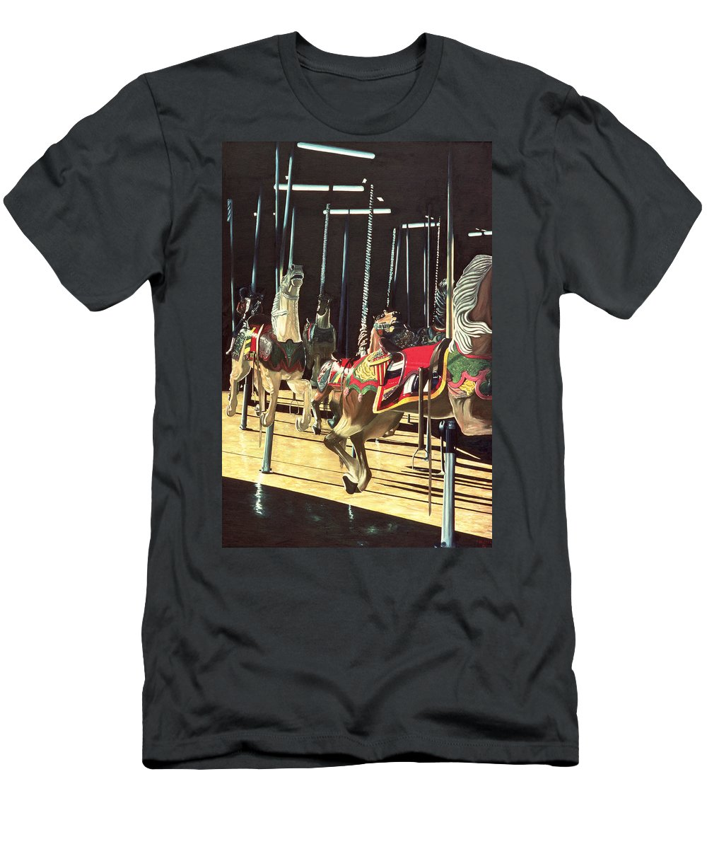 Merry Go Round T-Shirt featuring the painting Carousel by Anthony Butera