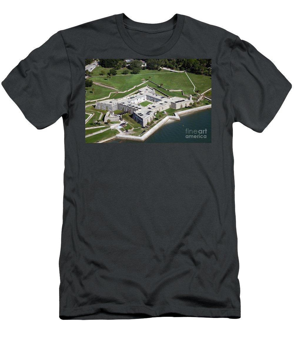 Castillo De San Marcos Men's T-Shirt (Athletic Fit) featuring the photograph Castillo De San Marcos St Augustine Florida by Bill Cobb