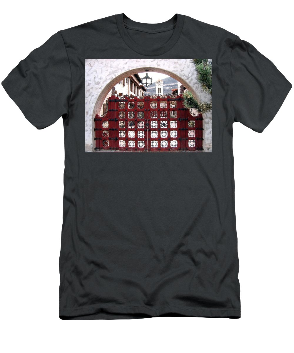 Castle Gate Men's T-Shirt (Athletic Fit) featuring the photograph Castle Gate by Will Borden