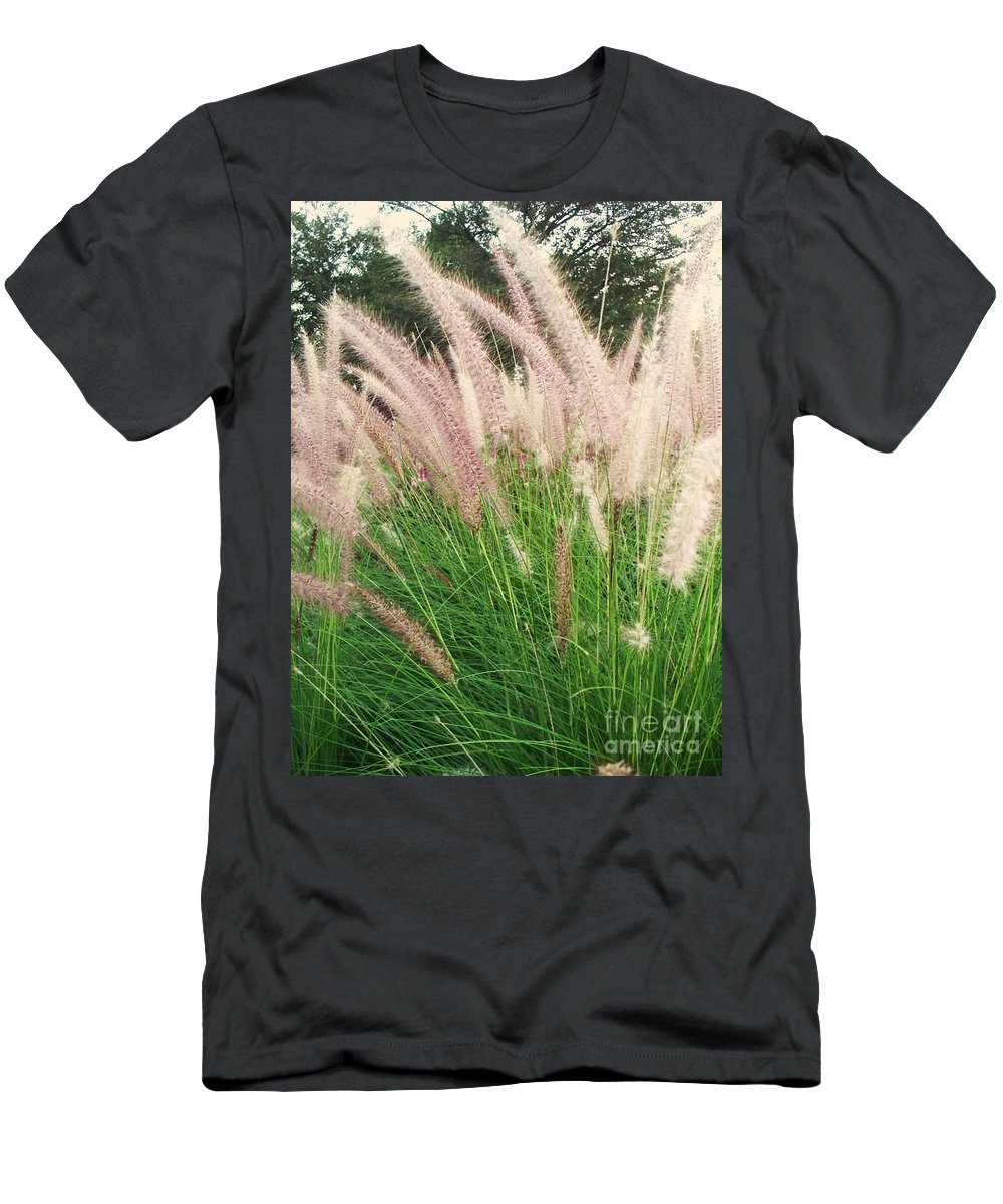 Plants Men's T-Shirt (Athletic Fit) featuring the photograph Cat Tails by Eric Schiabor