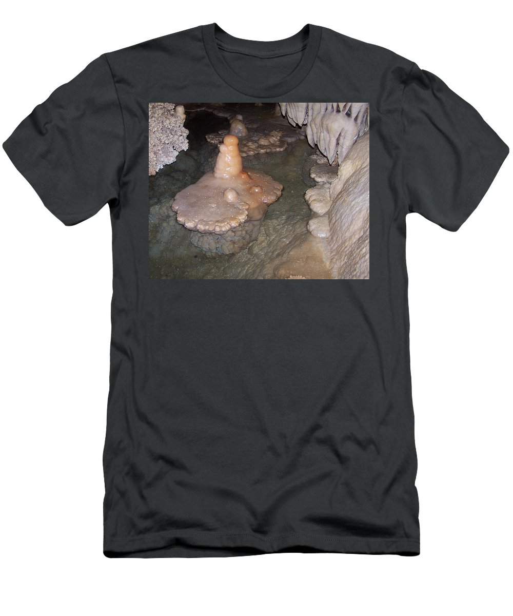 Cave Formations Men's T-Shirt (Athletic Fit) featuring the photograph Cave Formations 52 by Ernie Echols