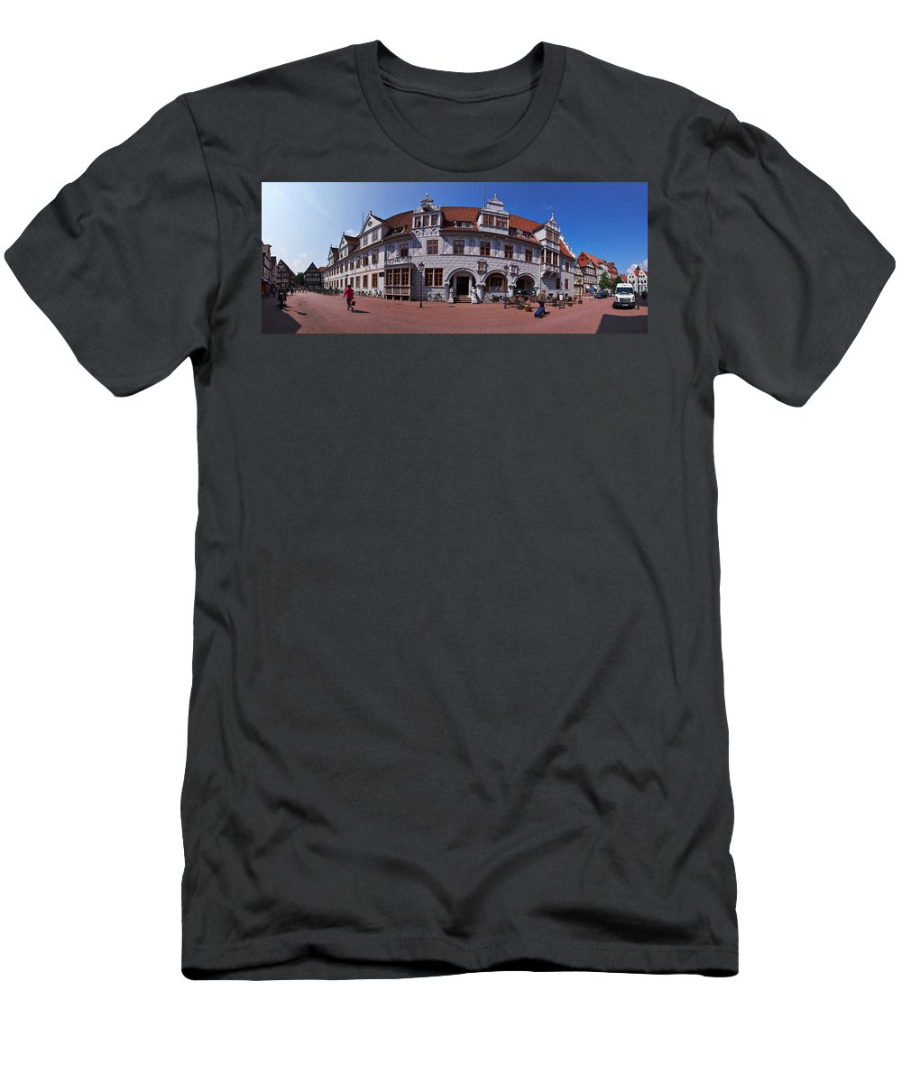 Alankomaat Men's T-Shirt (Athletic Fit) featuring the photograph Celle Rathaus by Jouko Lehto