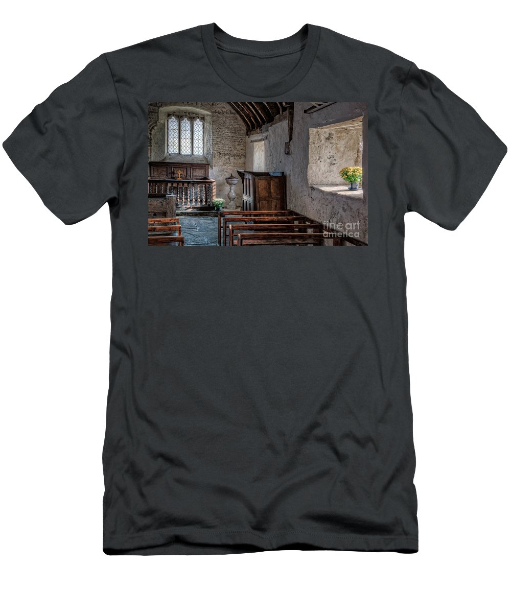 St Celynnin Church Men's T-Shirt (Athletic Fit) featuring the photograph Celynnin Church V2 by Adrian Evans