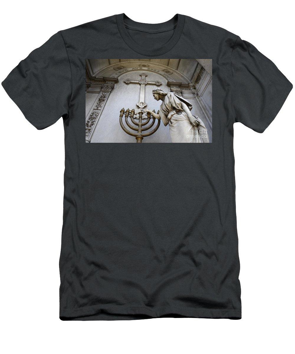 Tomb Men's T-Shirt (Athletic Fit) featuring the photograph Cementerio De La Recoleta Buenos Aires 1 by Bob Christopher