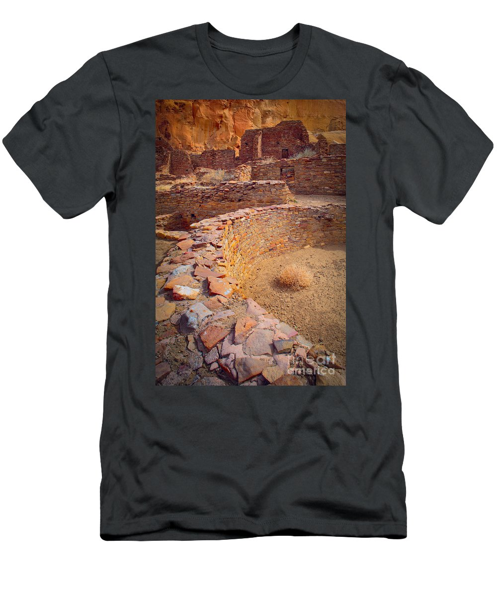 America Men's T-Shirt (Athletic Fit) featuring the photograph Chaco Ruins #1 by Inge Johnsson