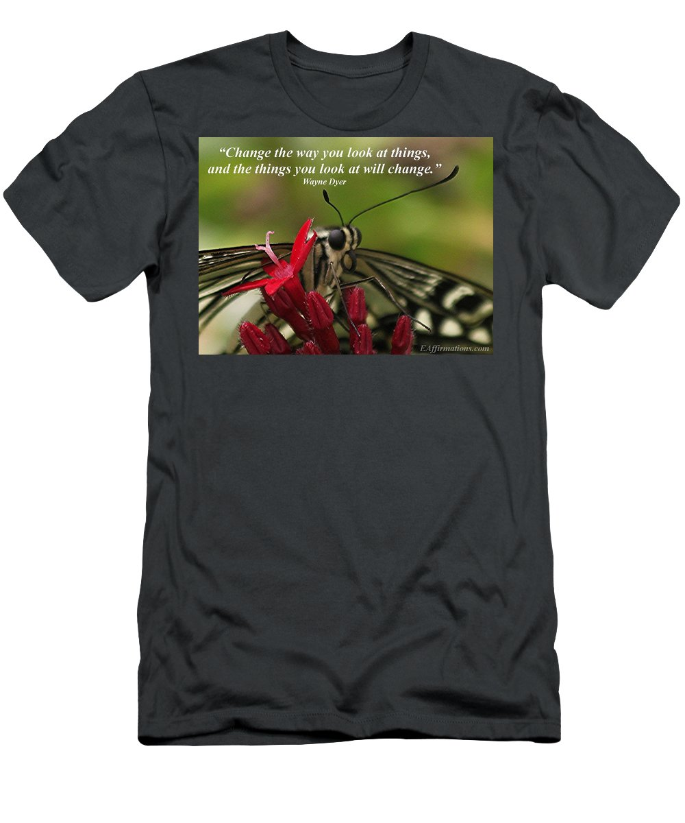 Butterfly Men's T-Shirt (Athletic Fit) featuring the photograph Change The Way You Look At Things by Pharaoh Martin