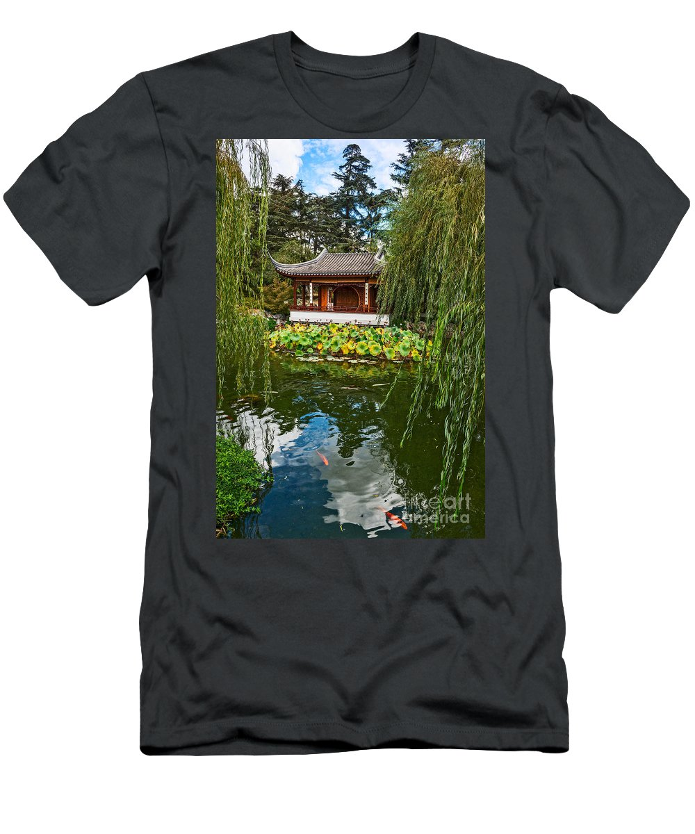 Chinese Garden Men's T-Shirt (Athletic Fit) featuring the photograph Chinese Garden Dream by Jamie Pham