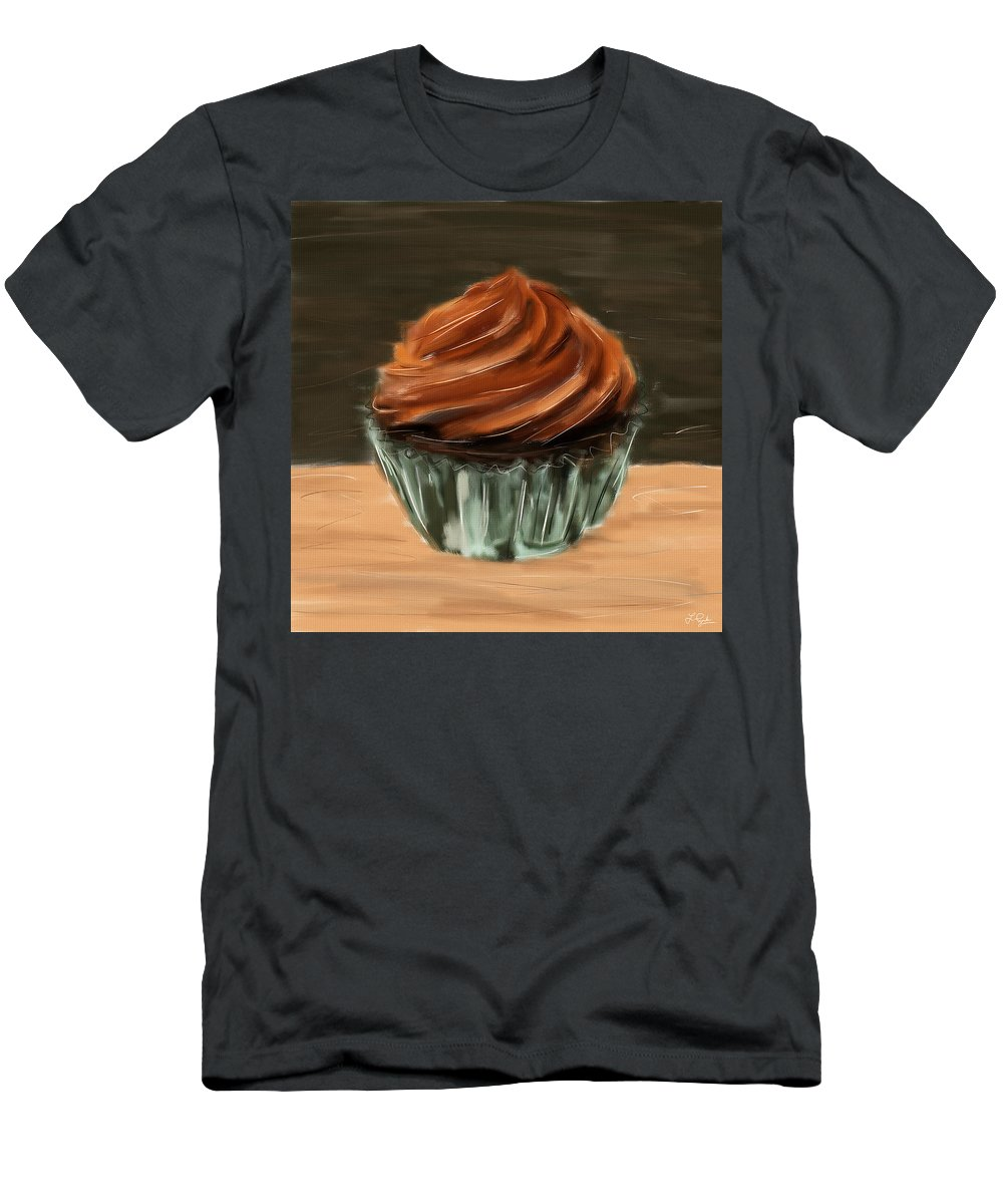 Cupcakes Men's T-Shirt (Athletic Fit) featuring the digital art Chocolate Cupcake by Lourry Legarde