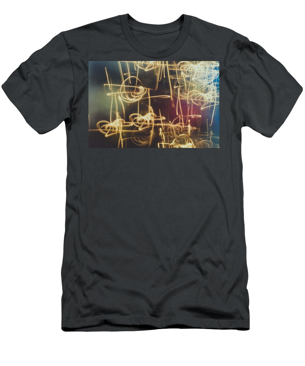 Abstract Men's T-Shirt (Athletic Fit) featuring the photograph Christmas Abstract V by Marco Oliveira