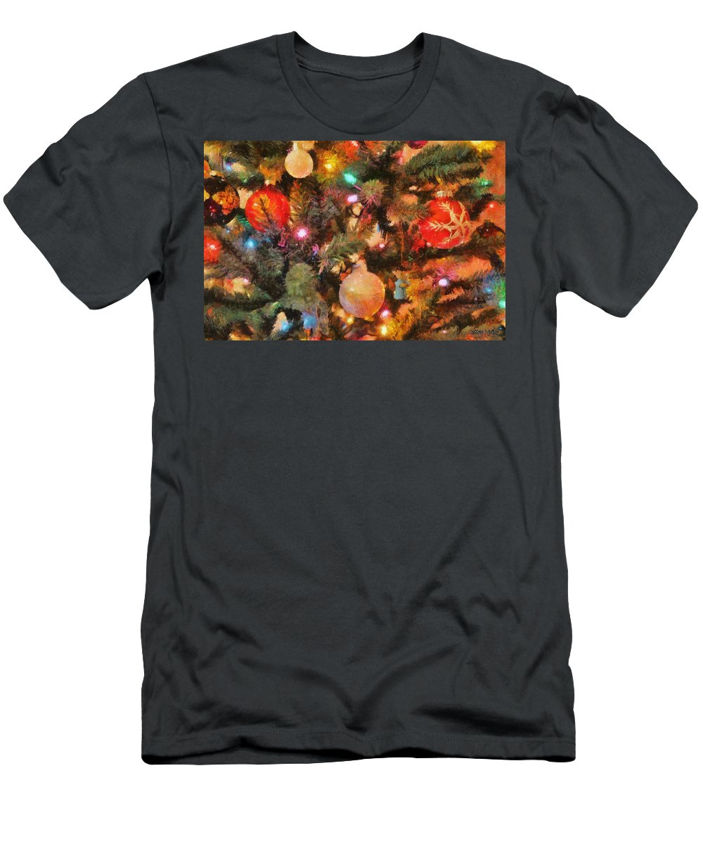 Angel T-Shirt featuring the painting Christmas Branches by Jeffrey Kolker