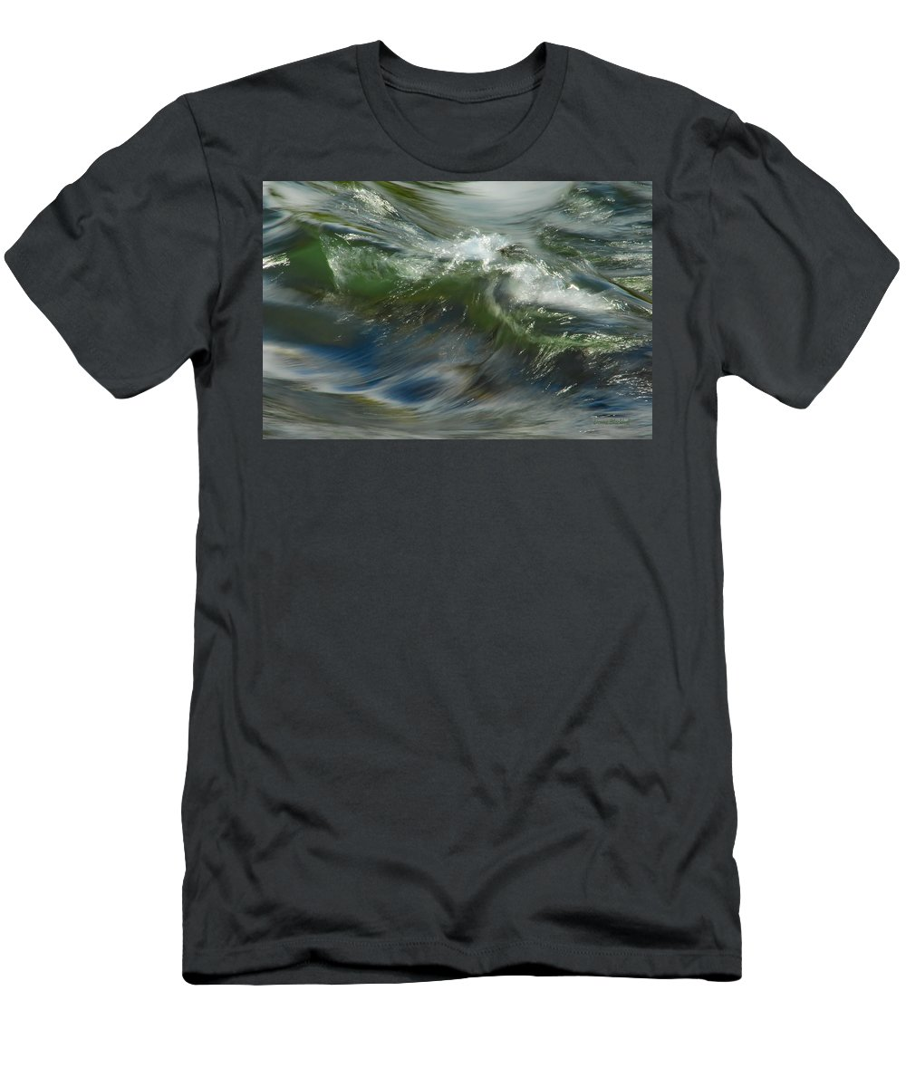 Water Men's T-Shirt (Athletic Fit) featuring the photograph Churning Waters by Donna Blackhall
