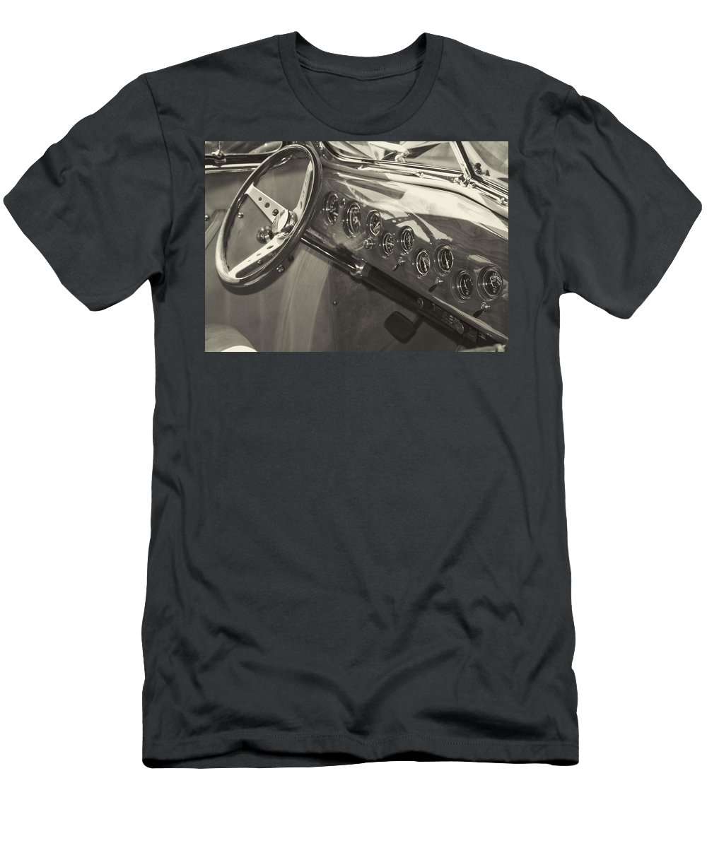 Men's T-Shirt (Athletic Fit) featuring the photograph Classic Car Interior by Cathy Anderson