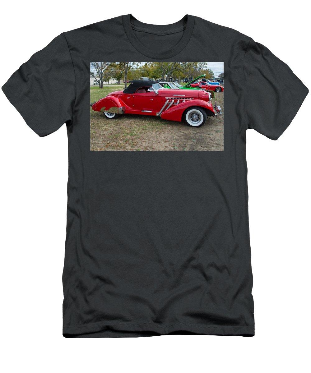 Auburn Men's T-Shirt (Athletic Fit) featuring the photograph Auburn 1936 Roadster Classic Elegance by JG Thompson