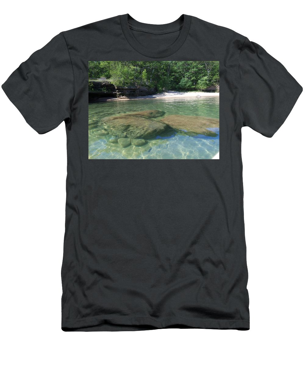 Port Austin Men's T-Shirt (Athletic Fit) featuring the photograph Clear Water by Two Bridges North