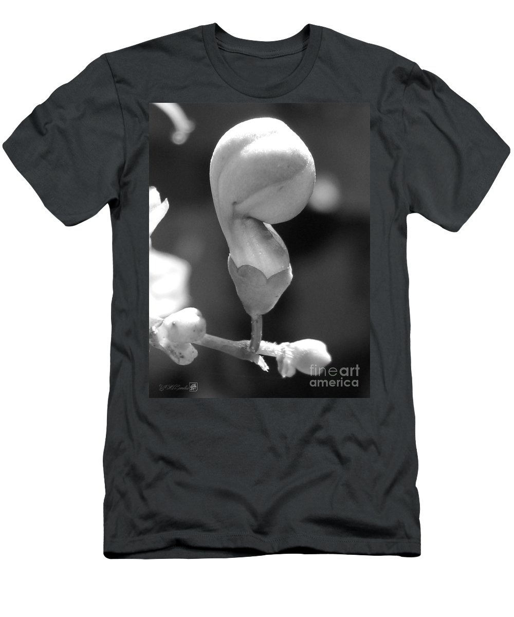 Mccombie Men's T-Shirt (Athletic Fit) featuring the photograph Clerodendrum Ugandense Bud by J McCombie