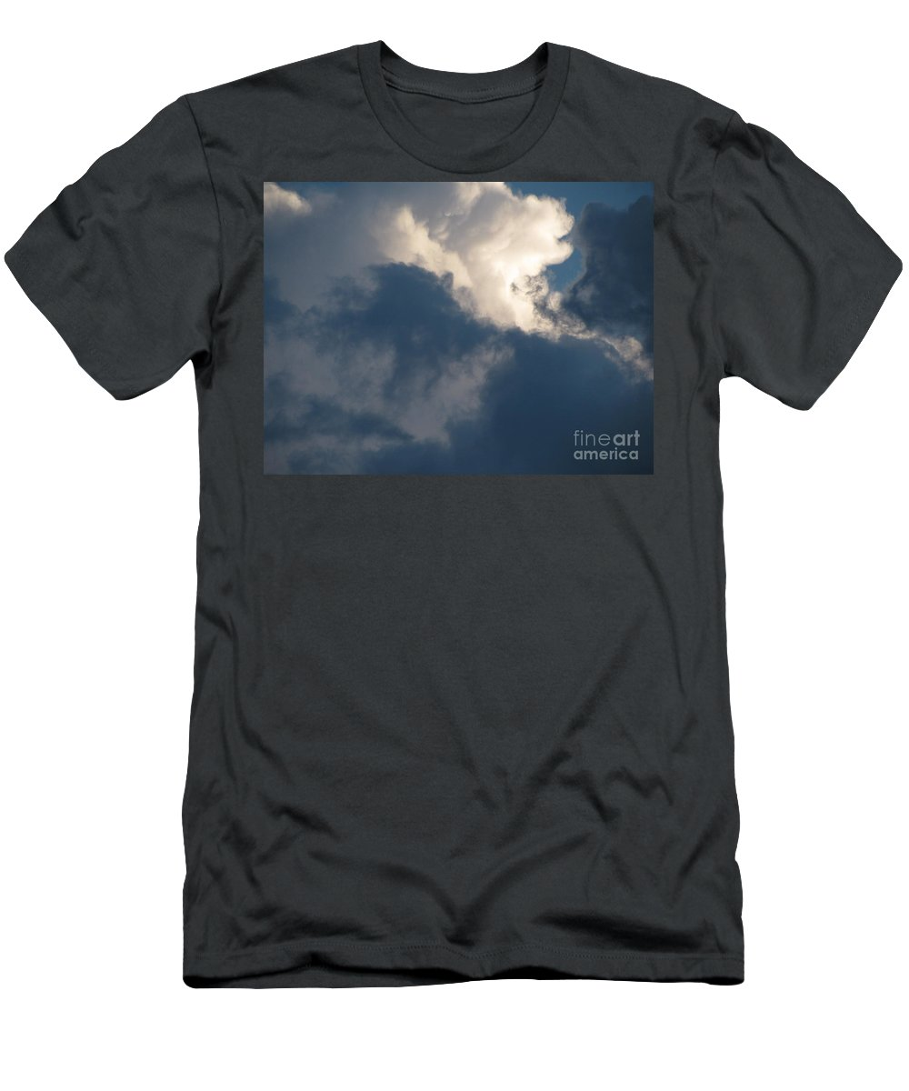 Clouds Men's T-Shirt (Athletic Fit) featuring the photograph Cloud Explosion by Leone Lund