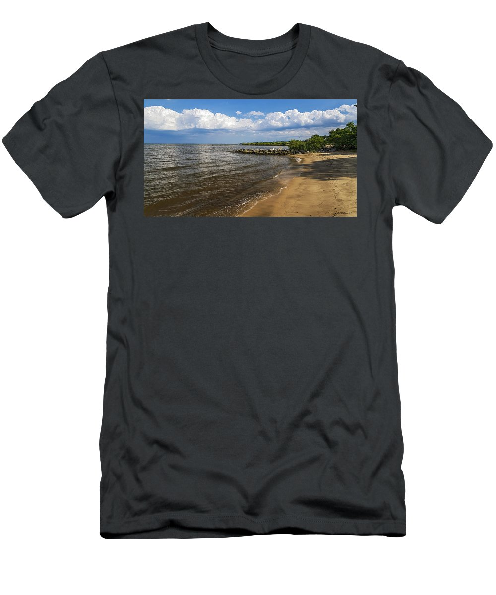 2d Men's T-Shirt (Athletic Fit) featuring the photograph Cloudy Ceiling by Brian Wallace