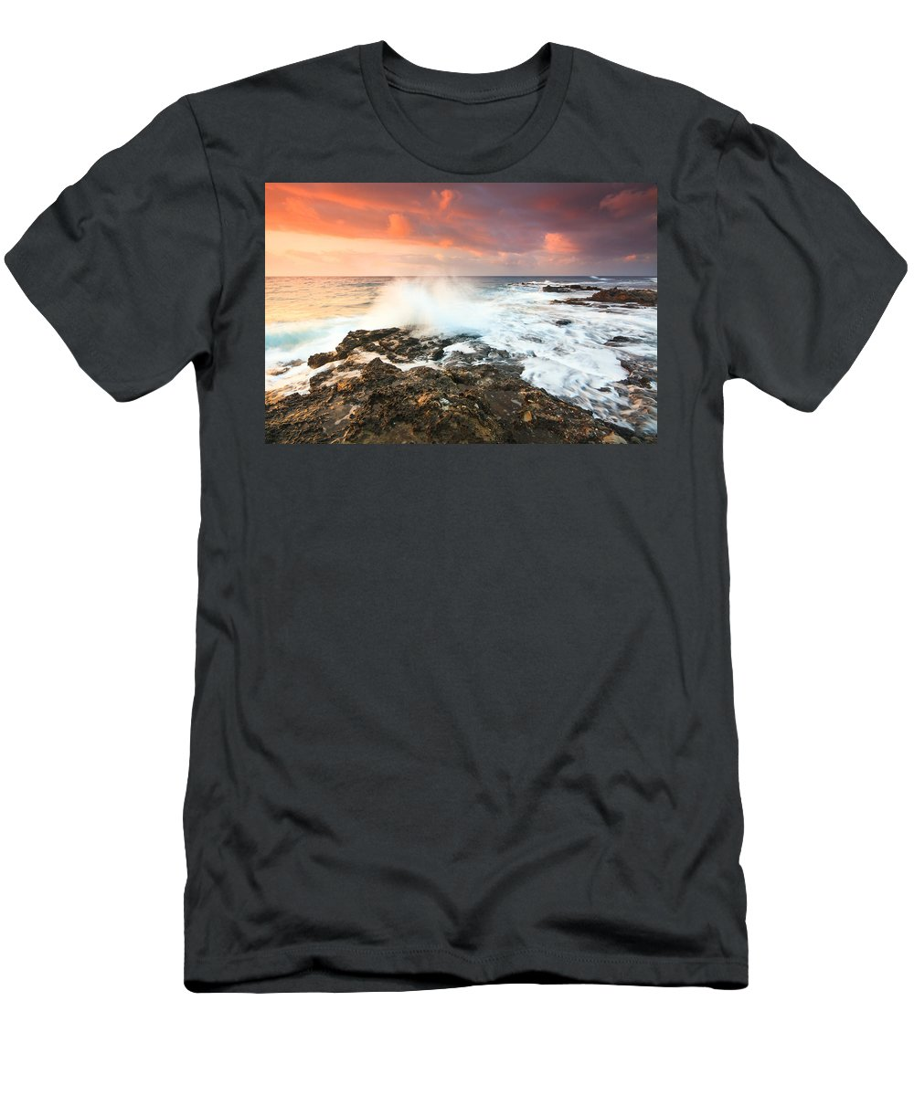 Crete Men's T-Shirt (Athletic Fit) featuring the photograph coast of Crete 'III by Milan Gonda