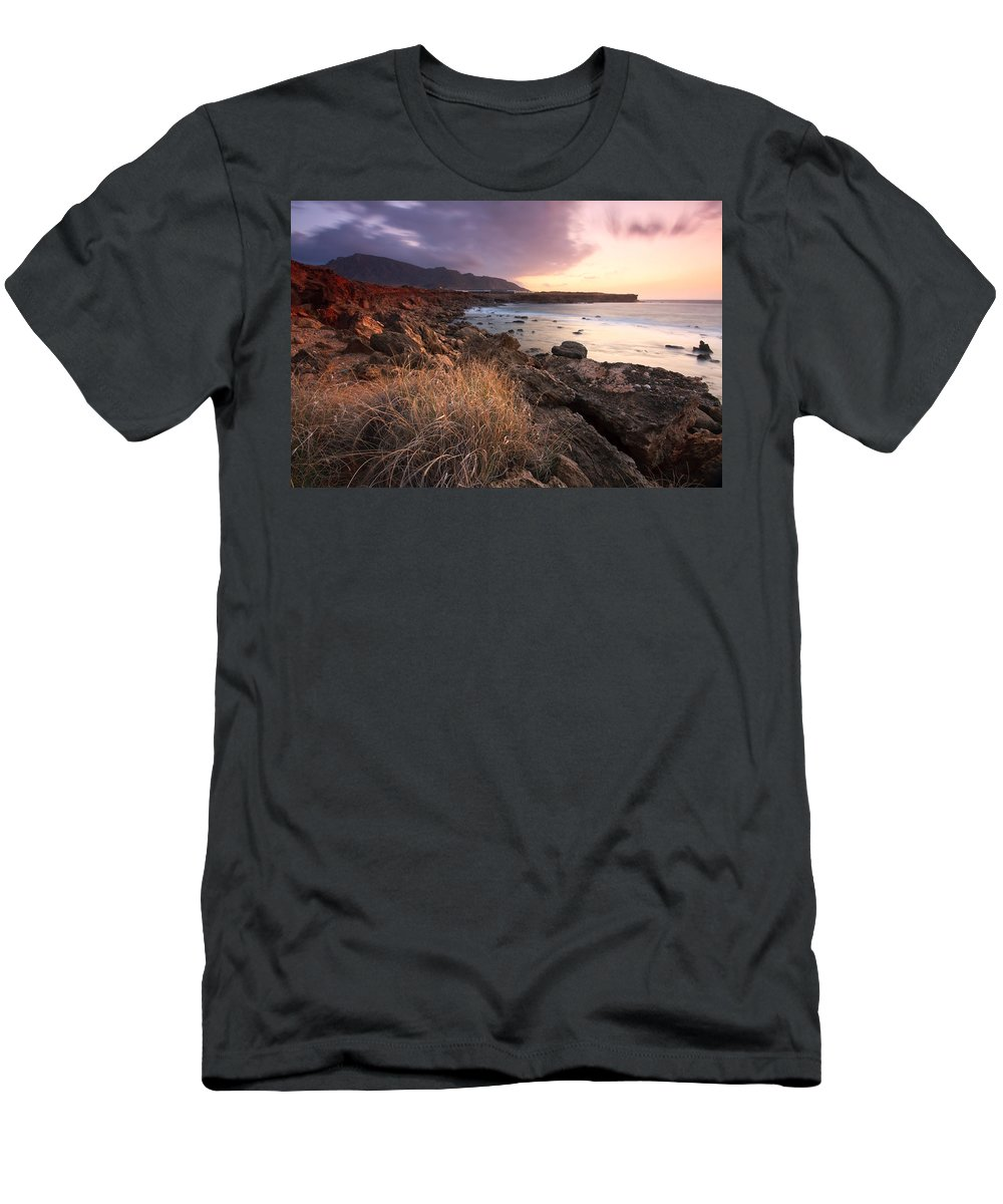 Crete Men's T-Shirt (Athletic Fit) featuring the photograph coast of Crete 'IV by Milan Gonda