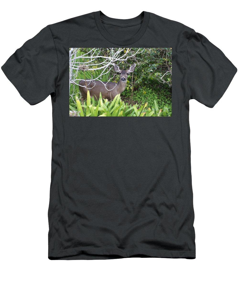 Coastal Deer Men's T-Shirt (Athletic Fit) featuring the digital art Coastal Deer by Barbara Snyder