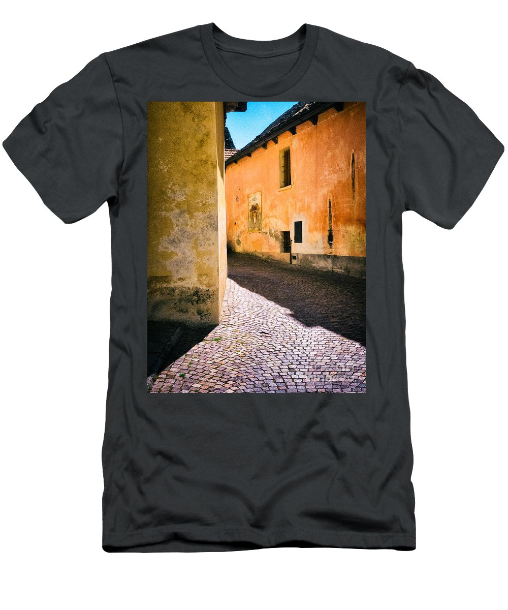 Alley Men's T-Shirt (Athletic Fit) featuring the photograph Cobbled Street by Silvia Ganora