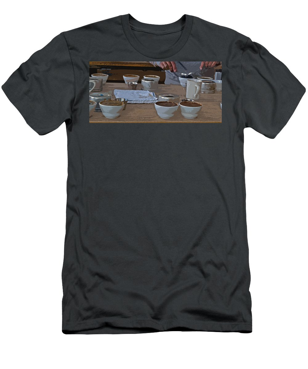Coffee Tasting Men's T-Shirt (Athletic Fit) featuring the photograph Coffee Tasting by Bill Owen