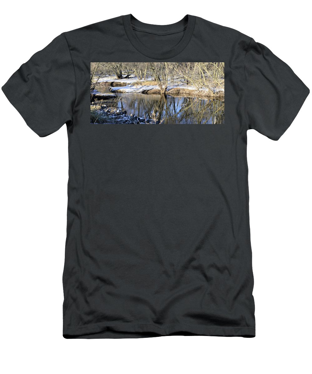 Water Men's T-Shirt (Athletic Fit) featuring the photograph Cold Blue Part 2 by Bonfire Photography