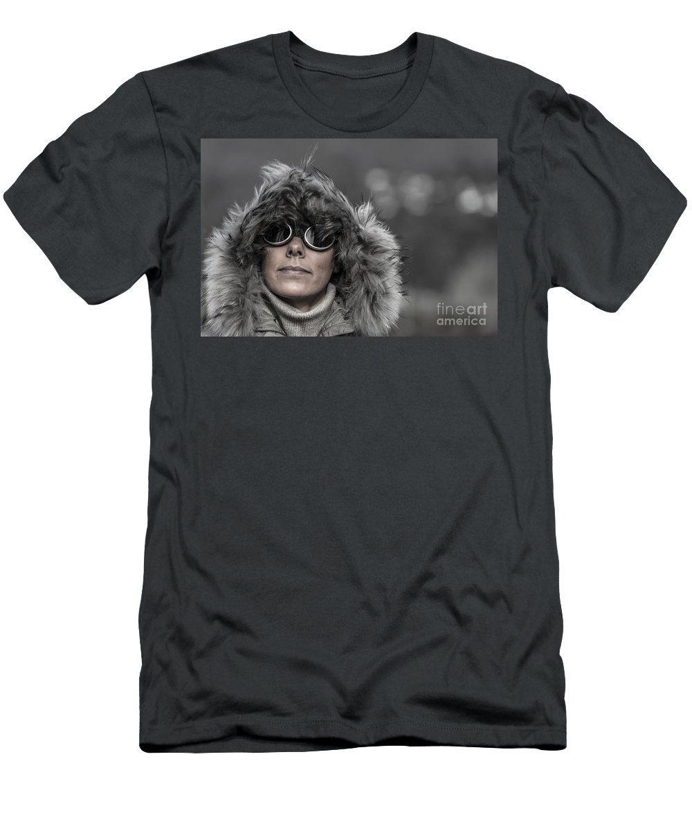 Woman Men's T-Shirt (Athletic Fit) featuring the photograph Cold Day by Mats Silvan