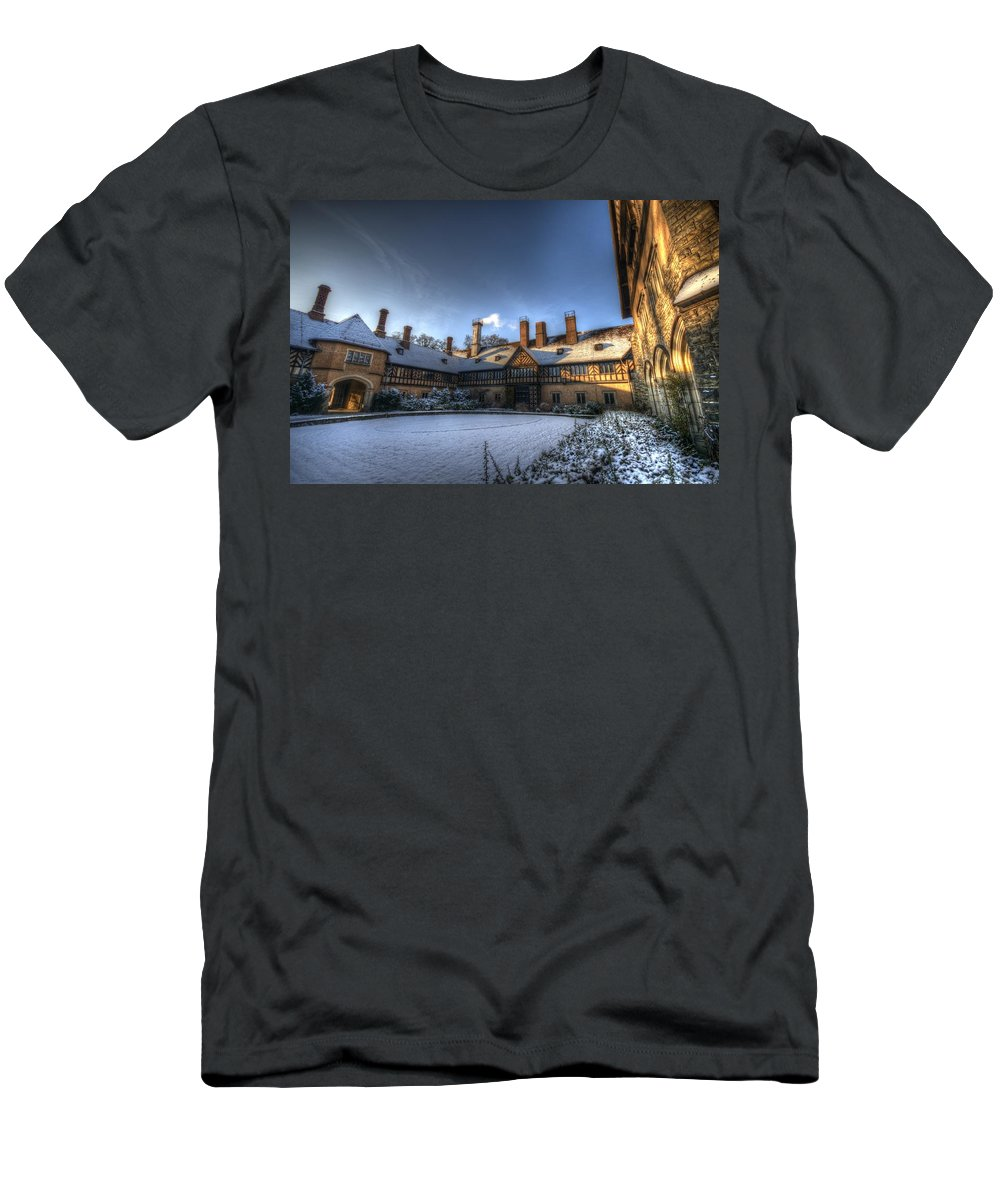 Background. Men's T-Shirt (Athletic Fit) featuring the digital art Cold Hof by Nathan Wright