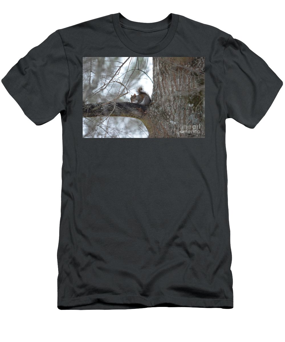 Cold January 2014 Men's T-Shirt (Athletic Fit) featuring the photograph Cold January 2014 by Maria Urso