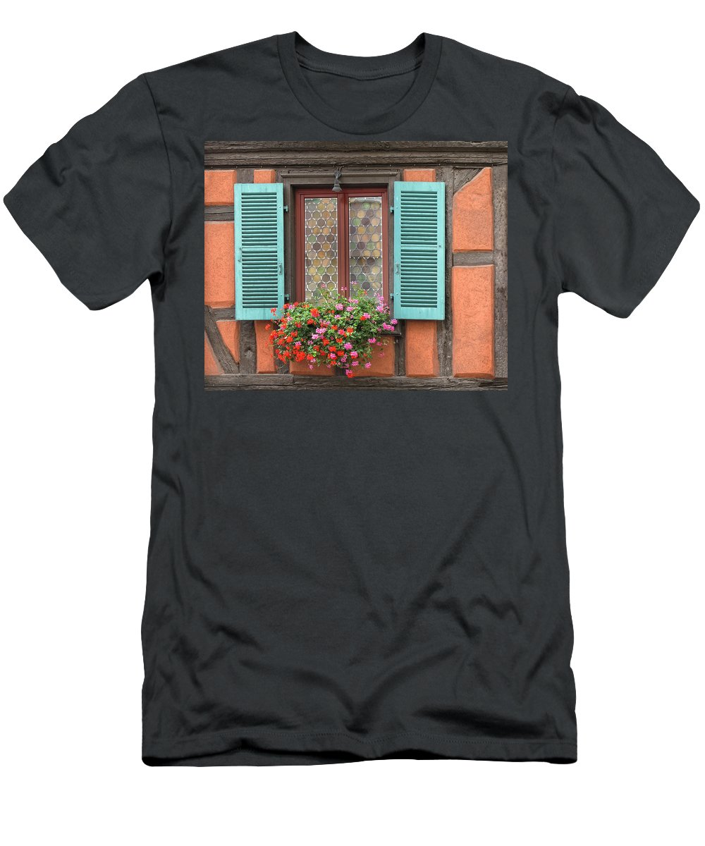 Window Men's T-Shirt (Athletic Fit) featuring the photograph Color Abounds by Dave Mills