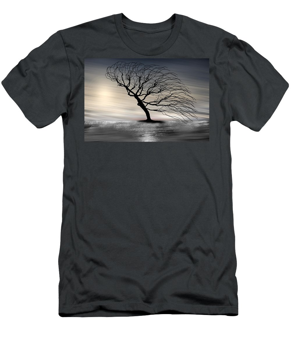 Landscape Men's T-Shirt (Athletic Fit) featuring the photograph Color Of The Wind by Gray Artus