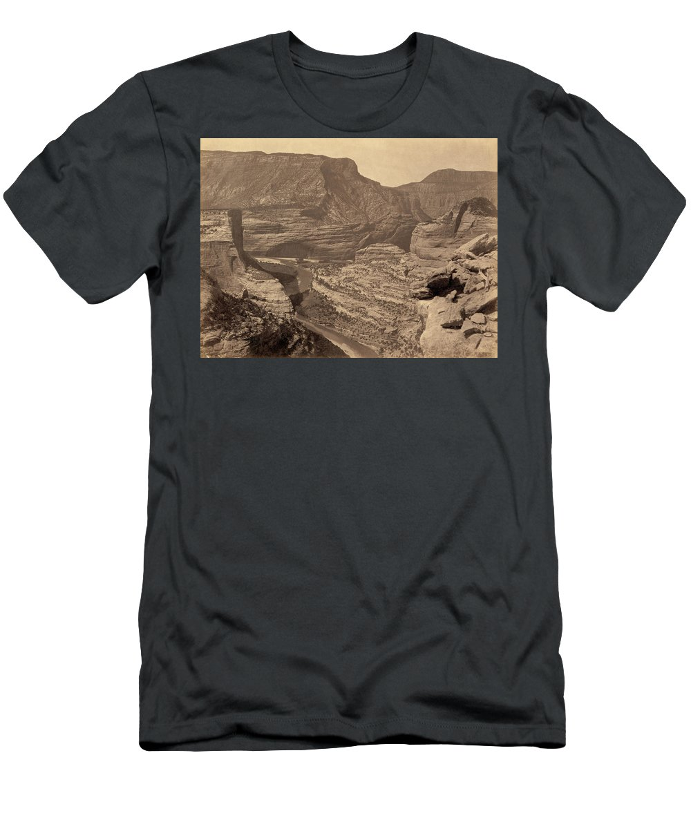 1872 Men's T-Shirt (Athletic Fit) featuring the photograph Colorado Canyons, 1872 by Granger