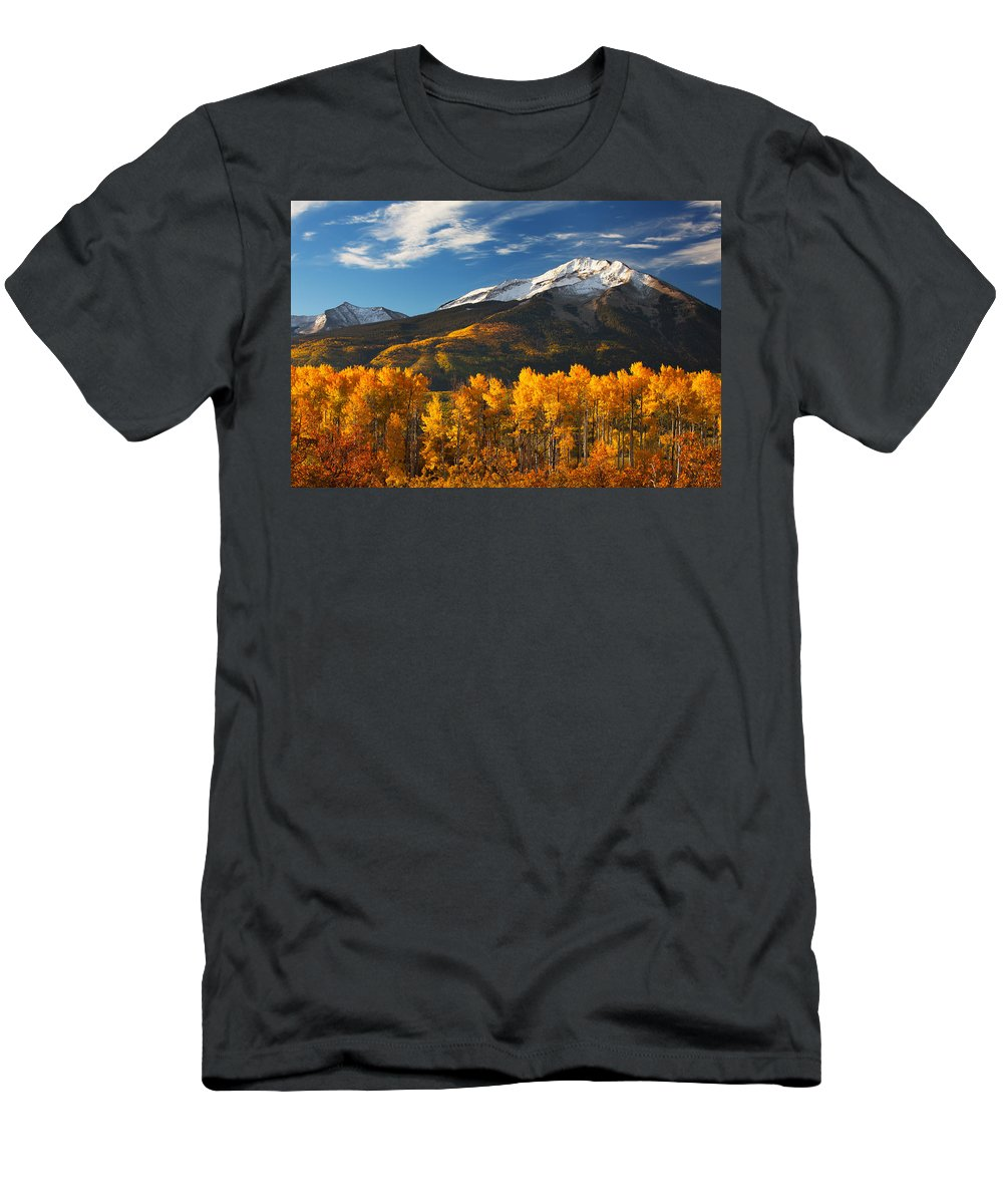Aspen Men's T-Shirt (Athletic Fit) featuring the photograph Colorado Gold by Darren White