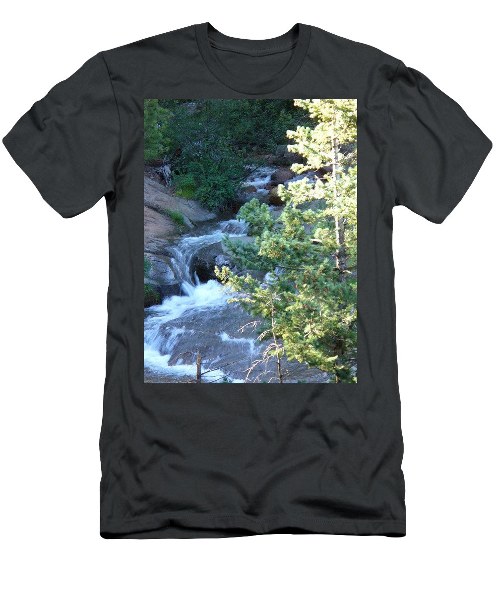 Lyle Men's T-Shirt (Athletic Fit) featuring the painting Colorado River by Lord Frederick Lyle Morris