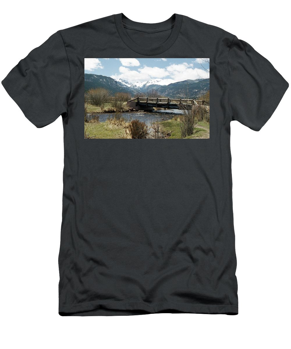 Rocky Mountain National Park Men's T-Shirt (Athletic Fit) featuring the photograph Colorado - Rocky Mountain National Park 03 by Pamela Critchlow